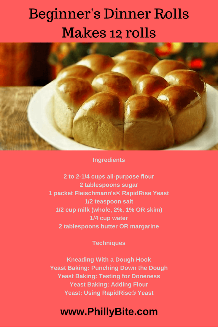 Recipes 101 Beginner S Guide To Dinner Rolls Philly