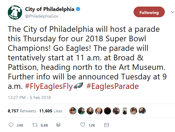 SuperBowl Tweet