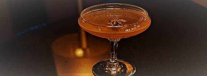 """The warming spices from rye whiskey, Scottish botanicals from the Botanist Gin, black strap molasses, bitters, and licorice notes from the star anise make the Crimson Rye perfect for Autumn in Philadelphia."" – Jon Witmer, OP Bar Manager"