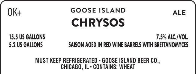 Chicago's Goose Island Beer Company Chrysos Brew