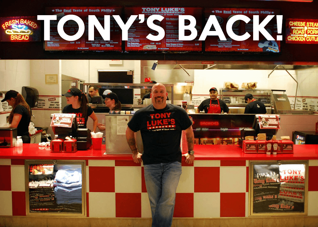 Tony Luke Jr. Is bringing his world famous Philly cheesesteaks and old Philly style sandwiches back to Gloucester County.Tony Luke's will celebrate the Grand reopening of its Sicklerville store located at 663 Berlin Cross-Keys Road, Sicklerville, NJ at 12 p.m on National Cheesesteak Day, March 24th. Philadelphia's own legend Tony Luke Jr. will be there, not only to host the Grand Reopening, but he will also own & operate this Tony Luke's Store.