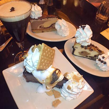 Last but certainly not least is none other than cheesecake! Our bellies may have been full, but don't you know that dessert is a different stomach? We indulged in the special Nutella Cheesecake, Cookie Dough Cheesecake, and Toasted Marshmallow Cheesecake (this one totally wins the show for an outstanding presentation). And now you can share the love because you can even ship a cheesecake- Click here to send something sweet to your favorite dessert lover with 2 day delivery!