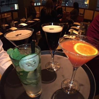 Start off your meal with a signature cocktail. The Cucumber Mojito with Hendrick's Gin and St. Germain or a Blood Orange Martini with Tito's Vodka and Solerno Blood Orange Liquor were our favorite sips being light and fruity. If you like something a little darker, the Irish Coffee Manhattan or Espresso Martini are sure to quench your thirst.