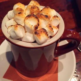 "Looking for a sweet way to warm up? This January they revealed the Tria-Style Hot Cocoa. This drink is most definitely an adult beverage, the cocoa is house made from scratch and ""blended"" with a bold smooth malbec and served with tiny marshmallows. Yes, you heard me right-it's hot cocoa made with red wine."