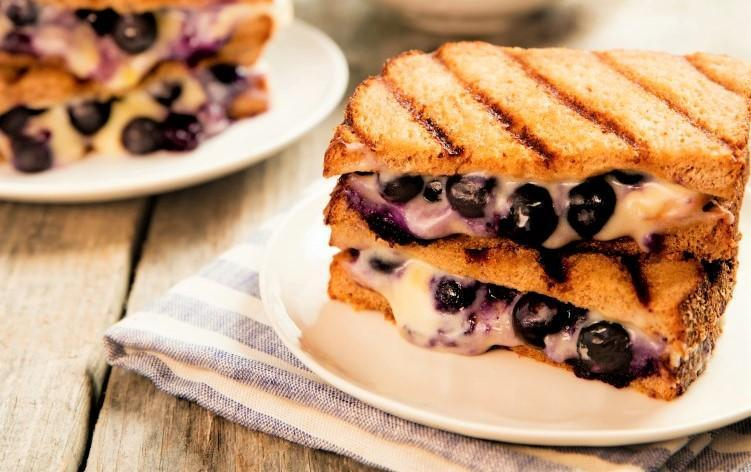 Recipe 101: Grilled Cheese Blueberry Sandwiches