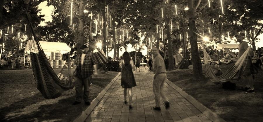Spruce Street Harbor Park on May 6