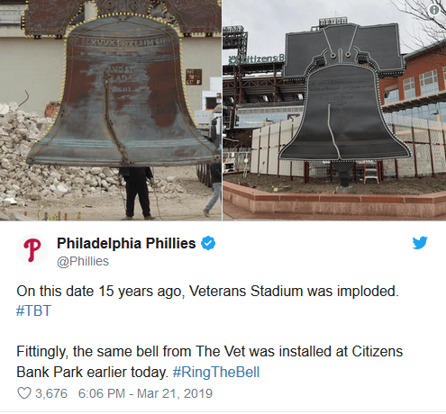 Liberty Bell Phillies Twitter Post