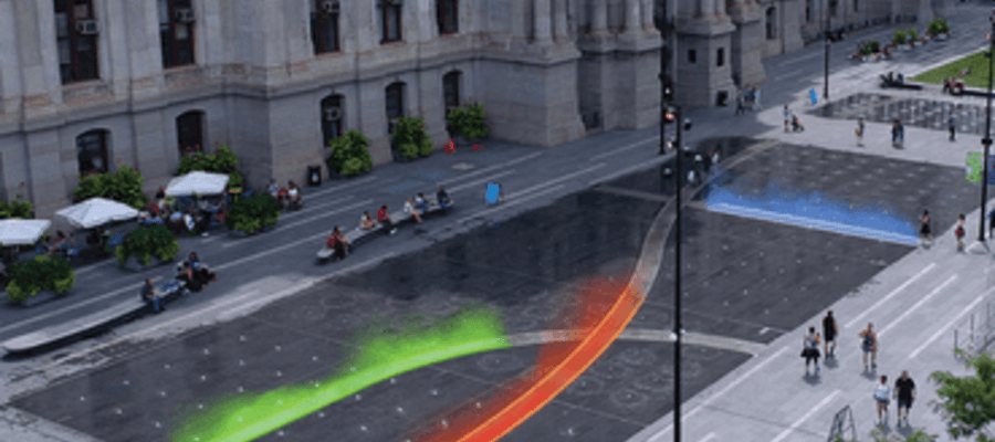 Pulse Comes Dilworth Park by Artist Janet Echelman