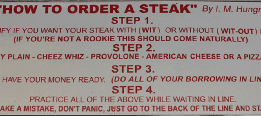 How to Order a Philadelphia Cheesesteak