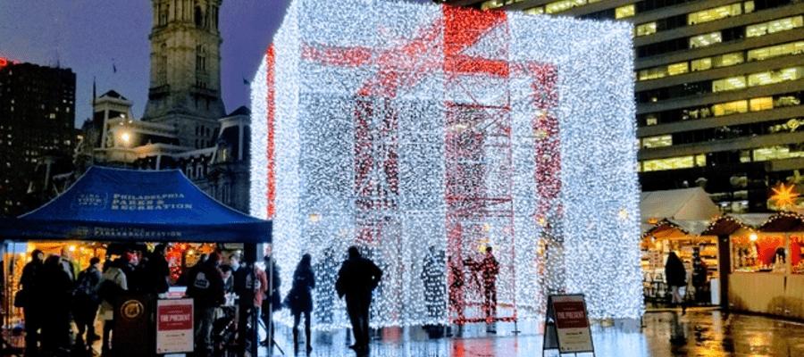 The Present at The Christmas Village in Center City