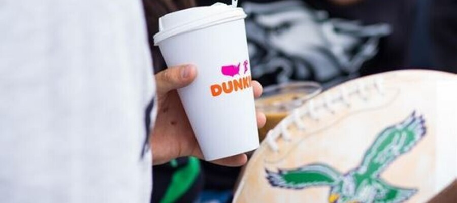 Dunkin', the official coffee, donut, and breakfast sandwich partner of the Philadelphia Eagles