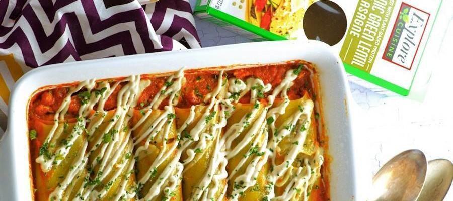 Recipe: Pumpkin Stuffed Green Lentil Cannelloni