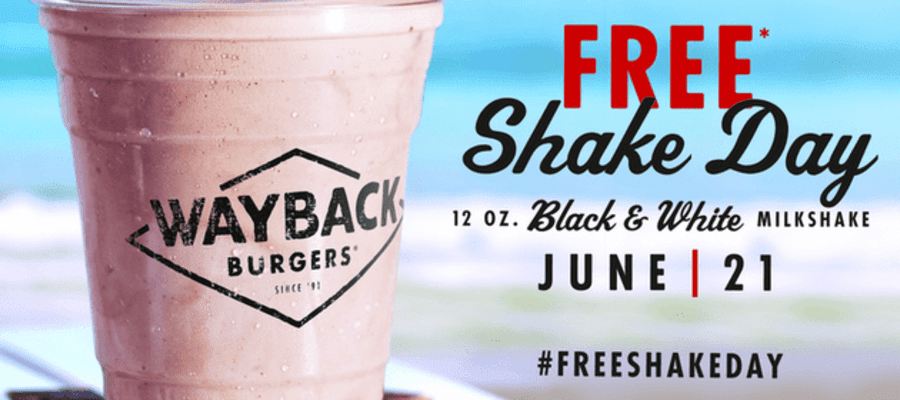Wayback Burgers First Day of Summer with Free Shakes