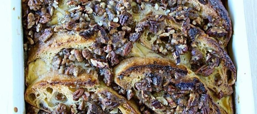 Easy to Make Whole Wheat French Toast with Praline Topping