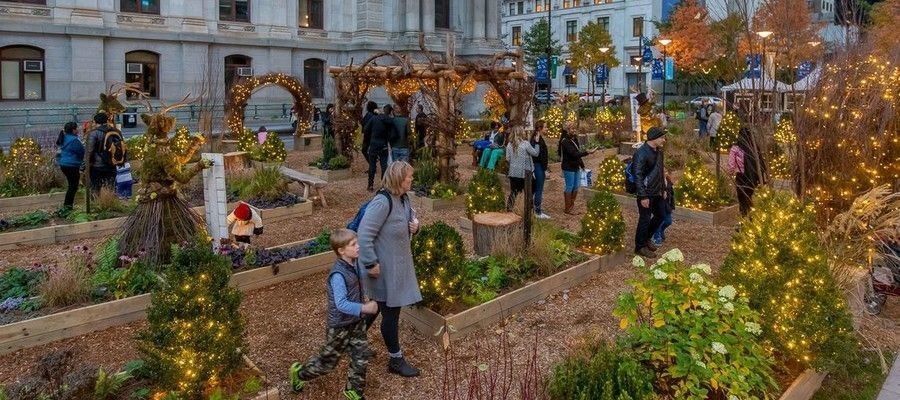 America's Garden Capital Maze Dilworth Plaza