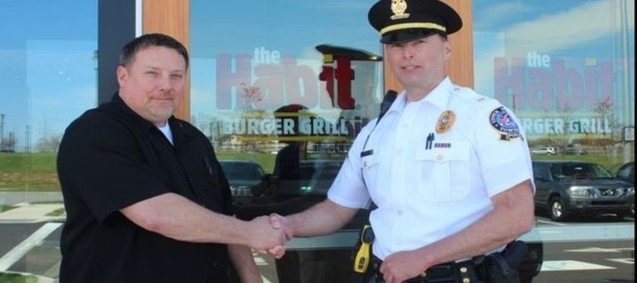 Habit Burger Supports Local Police Program