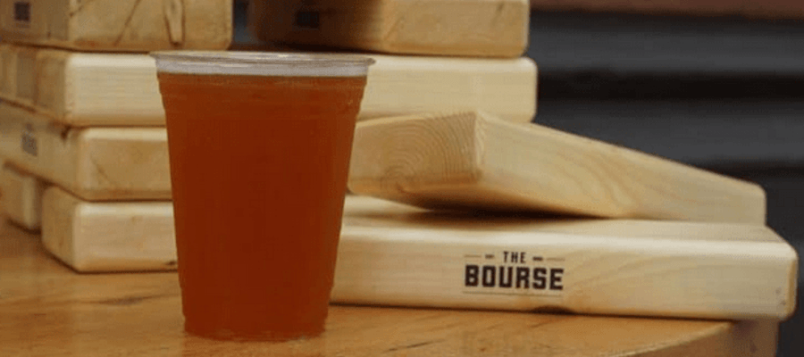 The Bourse Pop Up Beer Garden on The 4th of July